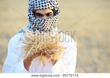 Kids on wheat field