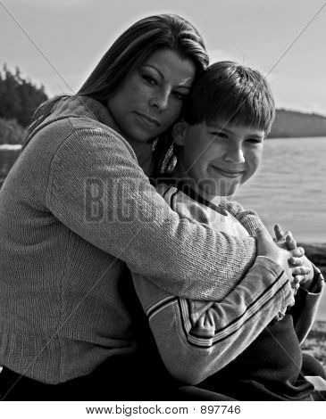 Black And White Mother And Son 95
