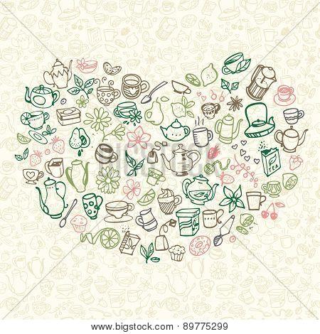 Doodle Tea Icons