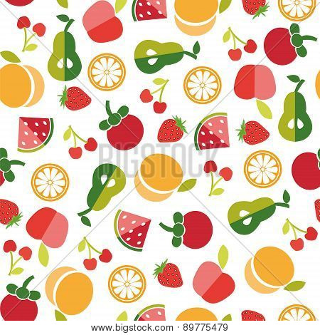 Fruit Background In Flat