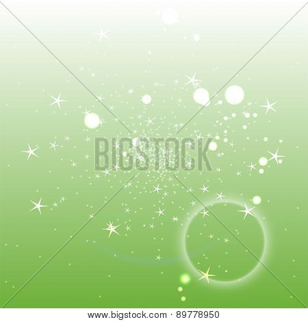 Light green circle background with star