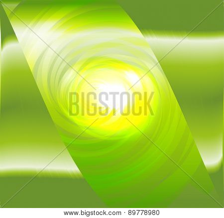Light green spiral abstract design