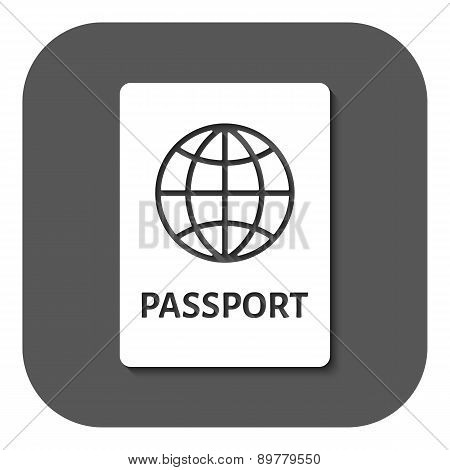 The Passport Icon. Travel Symbol. Flat