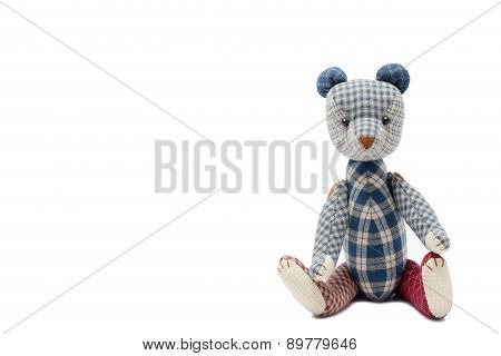 Bear Patchwork Isolated On White Background