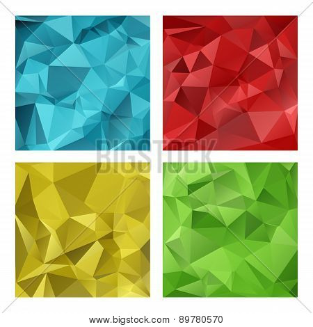 colored polygonal frames