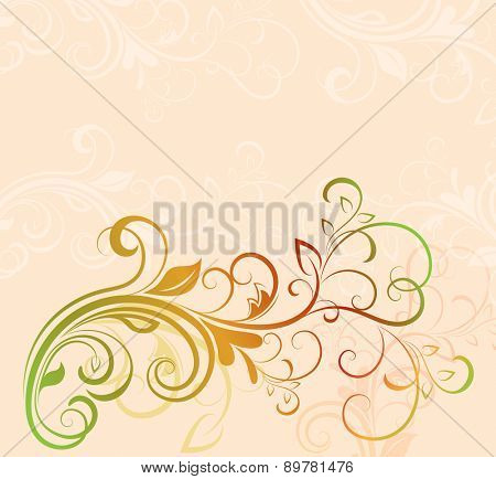 Colorful floral background with copy space.