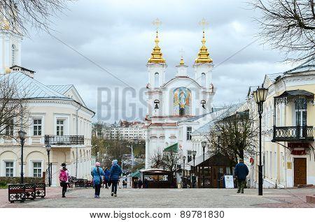 View Of Voskresenskaya (rynkovaya) Church, Suvorov Street, Vitebsk, Belarus