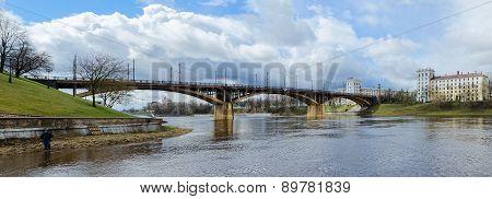 View On Kirovsky Bridge Across Zapadnaya Dvina, Vitebsk