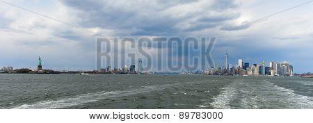 New York Harbor Skyline