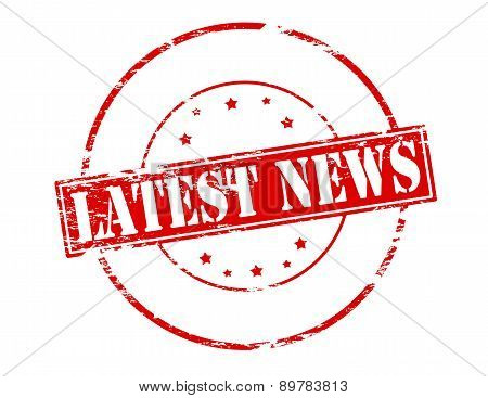 Rubber stamp with text latest news inside vector illustration