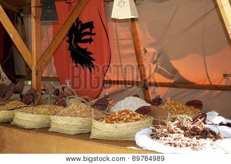 Dried fruit stall, Barbate.