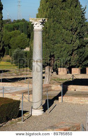 Bird House Pillar, Italica.