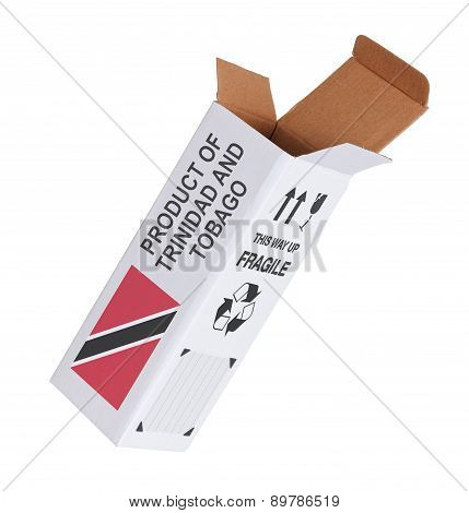 Concept Of Export - Product Of Trinidad And Tobago