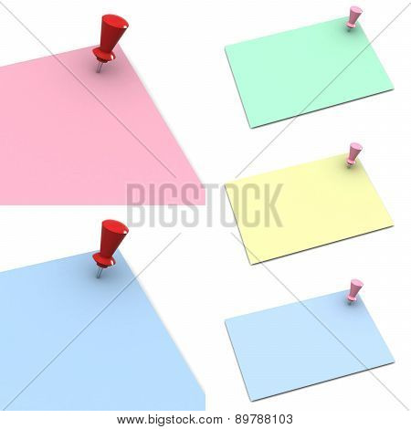 Push Pin On White Background (high Resolution 3D Image)