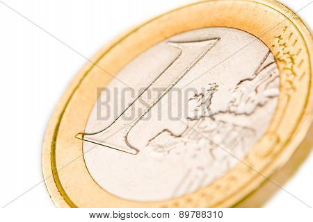 One Euro Coin Isolated