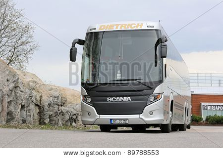 Scania Touring Coach Bus Parked