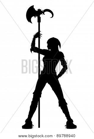 Executioner Woman Striptease Silhouette