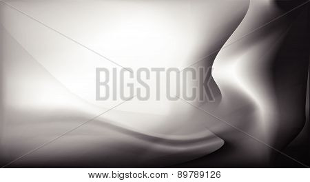 abstract black satin silk background vector design