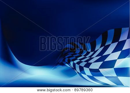 race flag waveing background vector illustration background