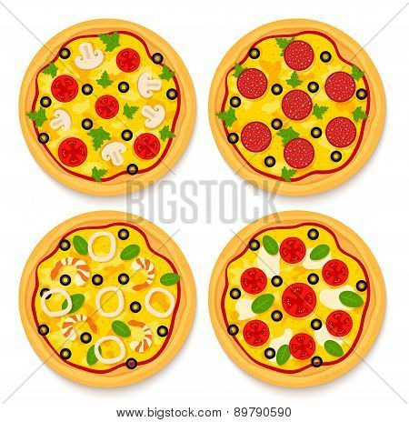 Set Of Pizzas