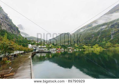 Pier In Geiranger Fjord