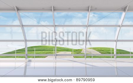 Landscape Under Blue Sky With Clouds
