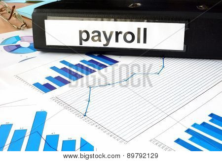 Folder with the label payroll