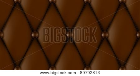luxury brown leather upholstery seamless pattern