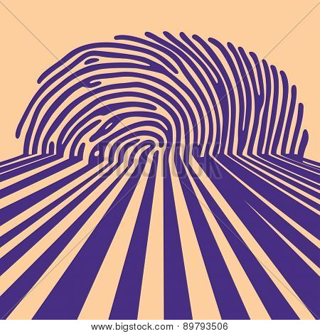 abstract fingerprint shadow background