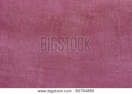 Grained Texture Fabric Of Pale Crimson Color