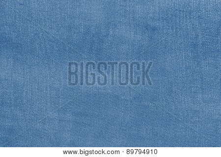 Grained Texture Fabric Of Pale Blue Color