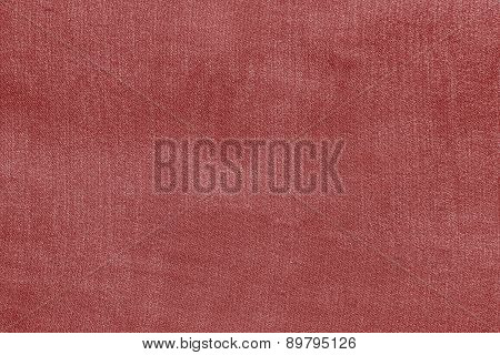 Grained Texture Fabric Of Pale Red Color