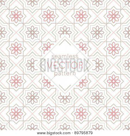 Seamless arabic pattern - vintage style. Vector illustration.