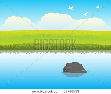 River In Steppe
