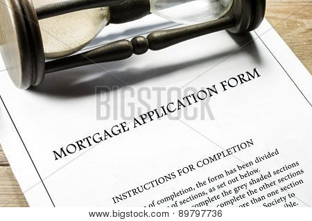 Real estate mortgage application form