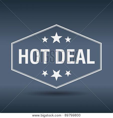 Hot Deal Hexagonal White Vintage Retro Style Label