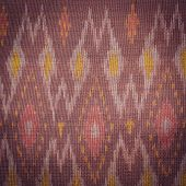stock photo of northeast  - Close up Thai style handcrafted textile made by silk from northeast Thailand - JPG