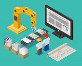 pic of construction crane  - Development process web site interface - JPG