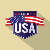 picture of single  - Made in USA Single Badge Vector Illustration - JPG