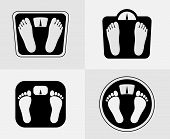 Bathroom scales icon. Weight control sign