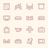 picture of home theater  - Home Appliance web icons set - JPG