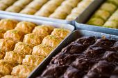 stock photo of baklava  - Turkish sweet baklava also well known in middle east.