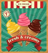 stock photo of ice cream parlor  - Collection of Ice Cream - JPG