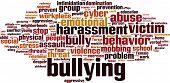stock photo of bullying  - Bullying word cloud concept - JPG