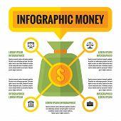 pic of economics  - Infographic money dollar  - JPG