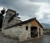 picture of shiva  - Ancient temple of Lord Shiva in the Gopeshwar town in Himalaya - JPG