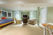 picture of basement  - Basement Interior design in a new house - JPG