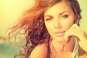 image of under sea  - Beauty Sunshine Girl Portrait - JPG