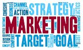 foto of market segmentation  - Marketing word cloud on a white background - JPG