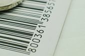 foto of barcode  - Black and white barcode - JPG